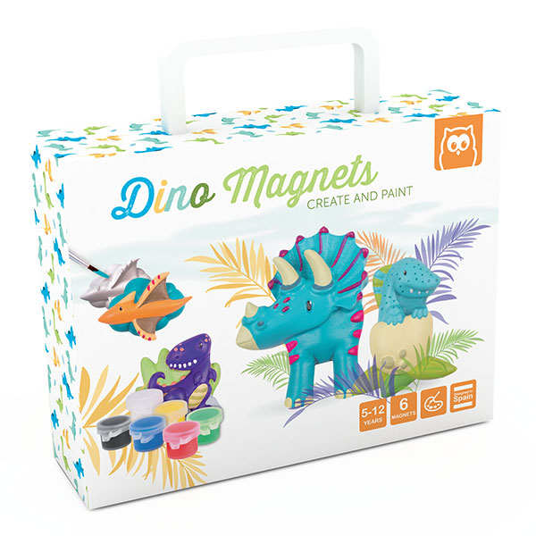 DINO MAGNETS CREATE AND PAINT