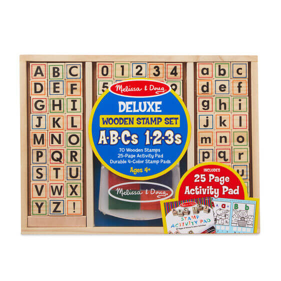 DELUXE WOODEN STAMP SET - ABC 123