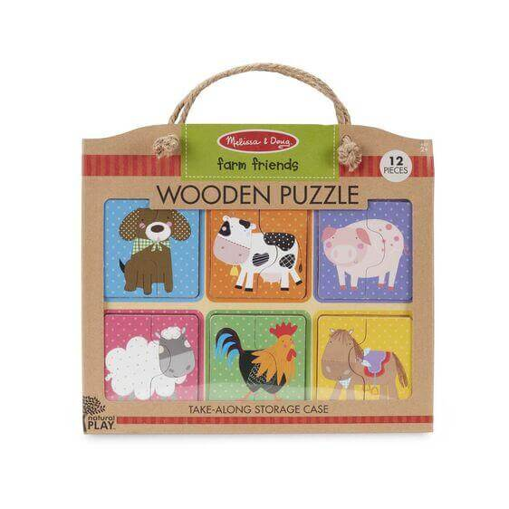 WOODEN PUZZLE - FARM FRIENDS