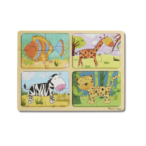 WOODEN PUZZLE - ANIMAL PATTERNS