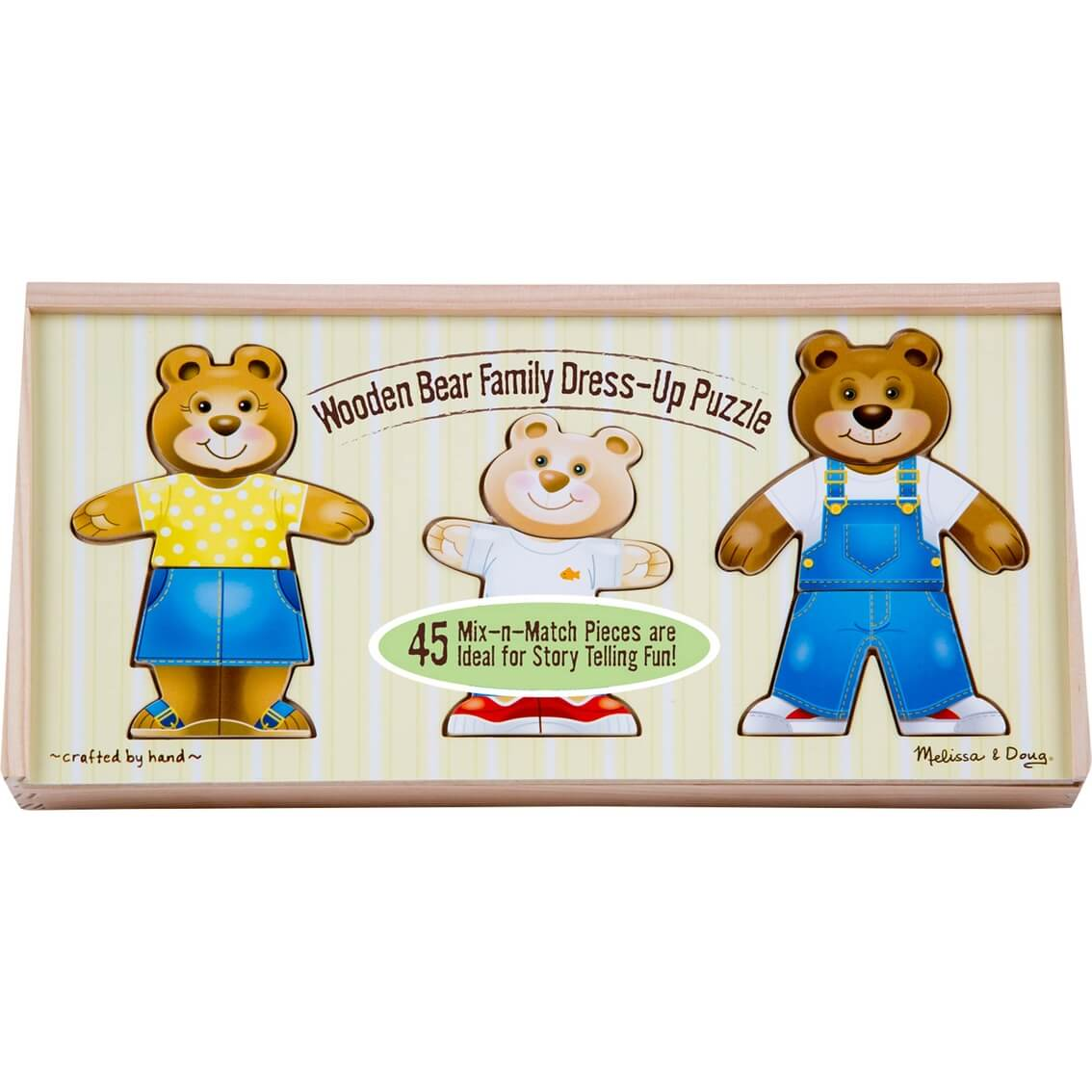 WOODEN BEAR FAMILY DRESS UP PUZZLE