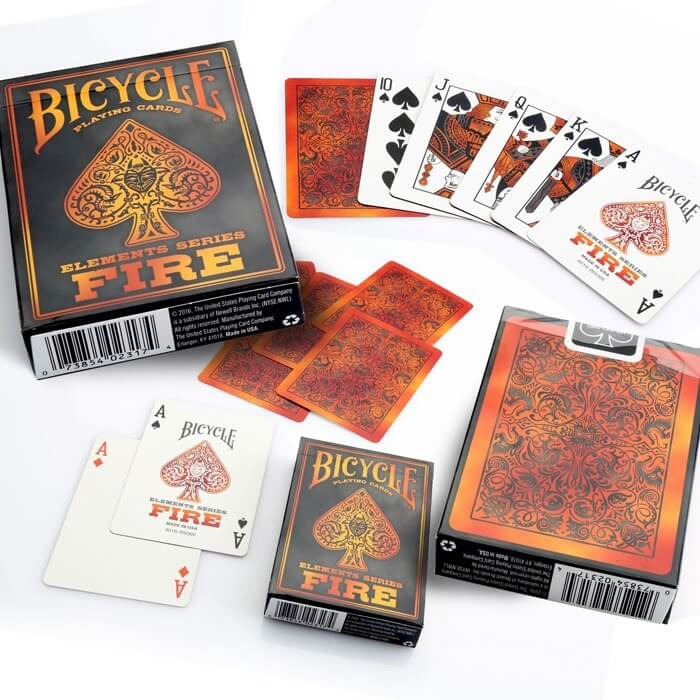 BARAJA POKER BICYCLE FIRE
