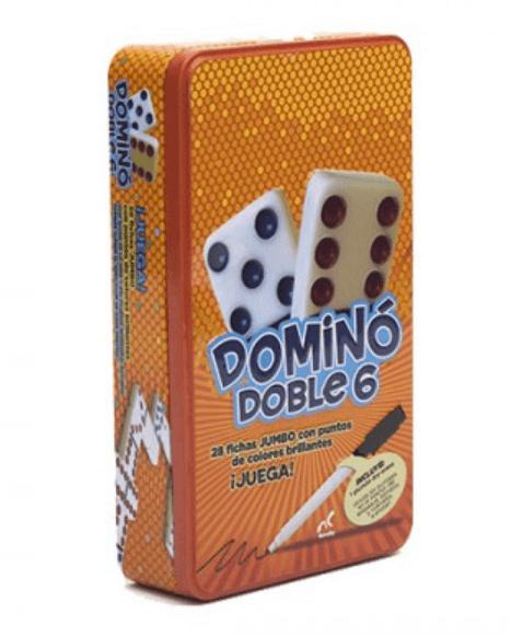 DOMINO DOBLE 6 EN CAJA METALICA