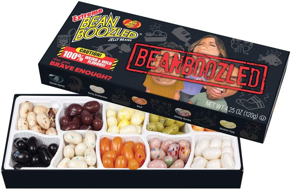 DULCES BROMA JELLY BELLY BEAN BOOZLED EXTREME BOX 120 GMS
