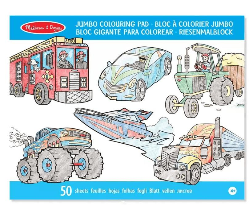 LIBRO JUMBO COLOURING PAD VEHICLES