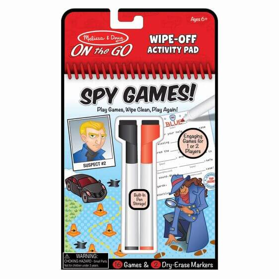 WIPE-OFF ACTIVITY PAD - GAME ON