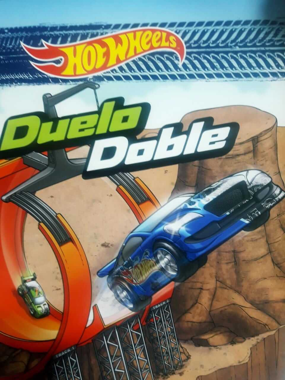 LIBRO HOT WHEELS DUELO DOBLE