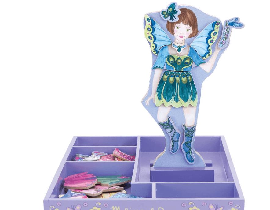 MAGNETIC WOODEN DRESS-UP DOLL PETAL FAIRY