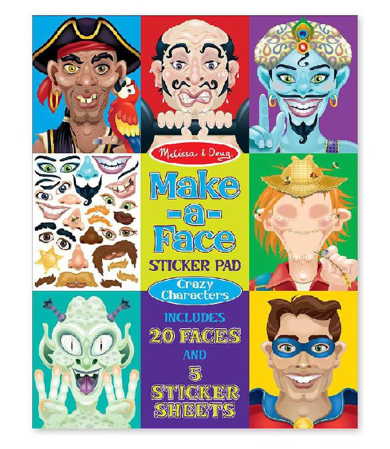 MAKE A FACE CRAZY CHARACTERS STICKER