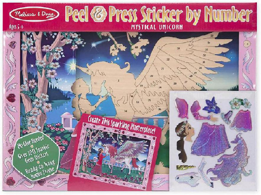 PEEL & PRESS STICKER BY NUMBER - MYSTICA