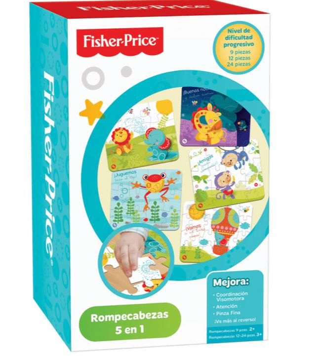 ROMPECABEZAS 5 EN 1 FISHER PRICE