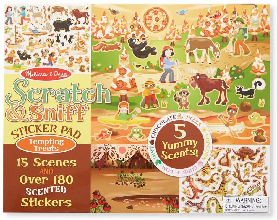 SCRATCH & SNIFF STICKER PAD - TEMPTING T