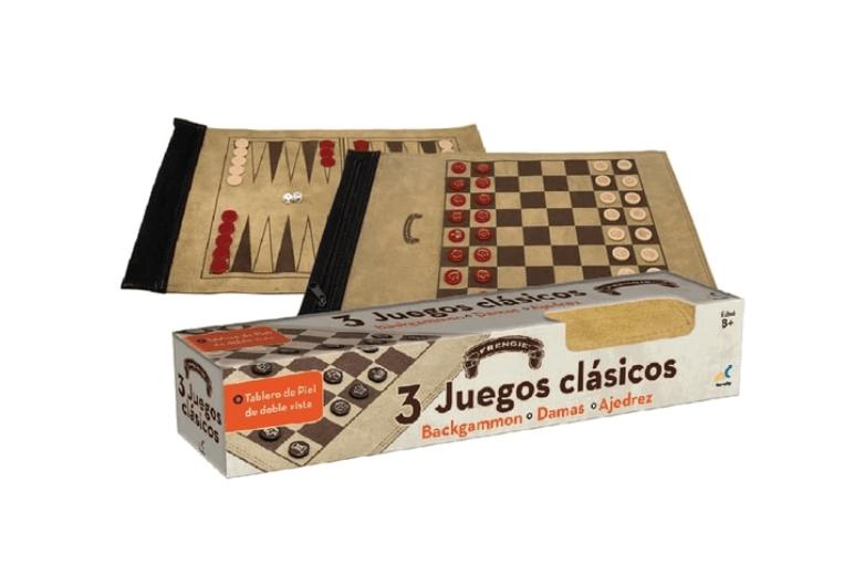 SET 3 EN 1 BACKGAMMON, DAMAS, AJEDREZ EN