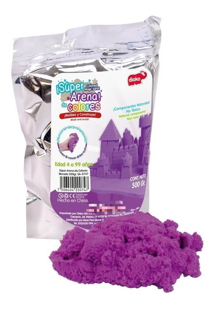 SUPER ARENA COLOR MORADO 500 GRS