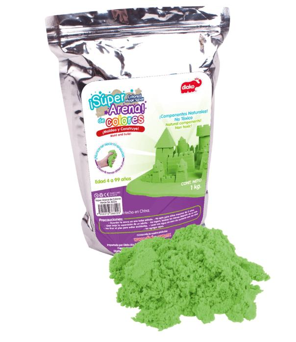 SUPER ARENA COLOR VERDE 1 KG