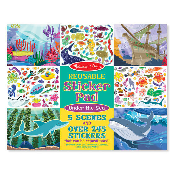 UNDER THE SEA - REUSABLE STICKER