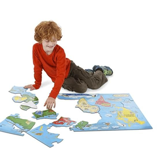 WORLD MAP FLOOR PUZZLE